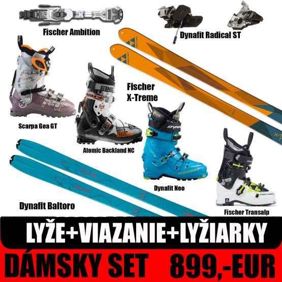 Dámsky skialp set